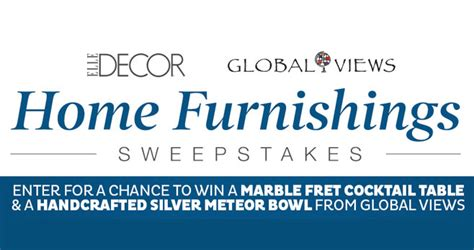 Elle Giveaway - elle decor global views sweepstakes