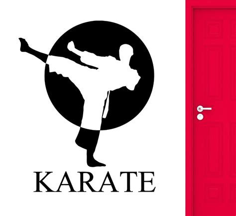 karate wall stickers karate wall stickers sports martial arts fighter fighting