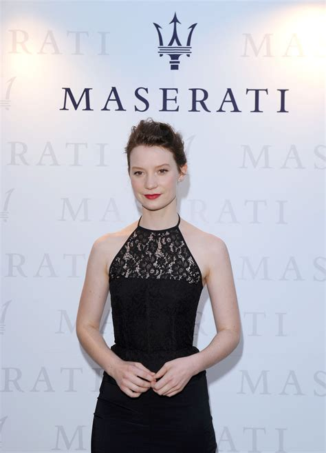 maserati celebrity mia wasikowska photos photos celebs hang out at terrazza