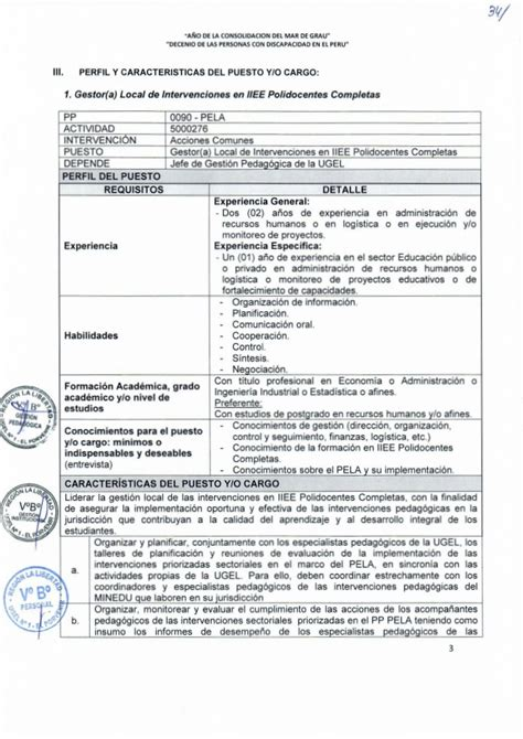 minedu convocar concurso para los acompaantes pela cas 002 2016 ugel 01 ep