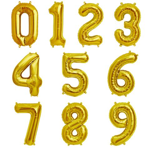 50 gold 16 inch number balloon by pea green boat