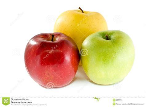 imagenes verdes y rojas manzanas rojas amarillas y verdes imagen de archivo