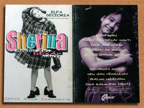 Kaset Lea Salonga kaset lama sherina album andai aku besar nanti