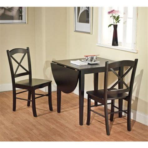small kitchen sets furniture black 3 piece country cottage dining set table and 2