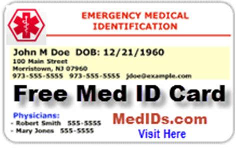 emergency id card template alert card template pictures to pin on