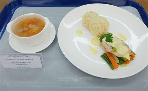 pilihan menu makanan tergantung  kelas rawat inap pasien