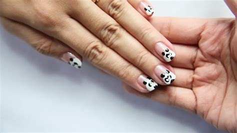 easy nail art wikihow how to make panda nail art with pictures wikihow