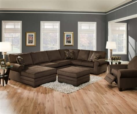 Large Brown Sectional Sofa by Pretty Brown Velvet Large Sectional Sofas With