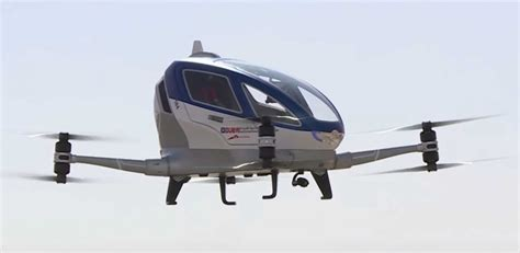 Drone Ehang dubai plans to introduce ehang 184 drone taxi in july