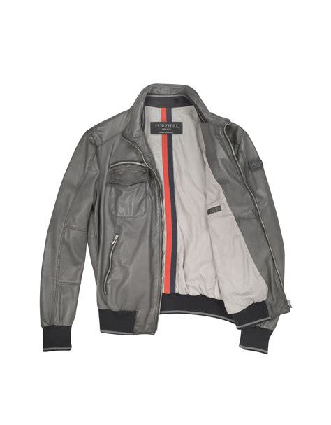 Jacket Bomber Bw grey leather bomber jacket outdoor jacket