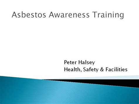 asbestos awareness certificate template asbestos awareness presentation authorstream