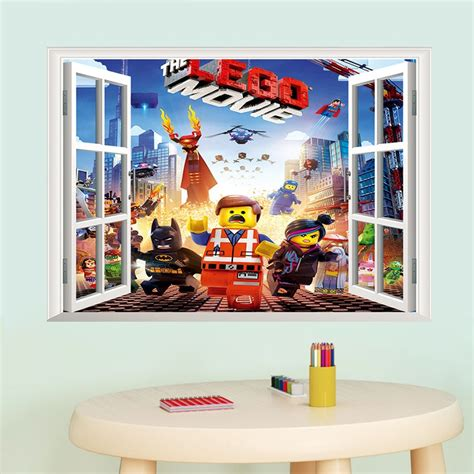 newest 3d minecraft lego wall sticker for