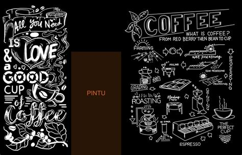 gambar cafe keren hitam putih