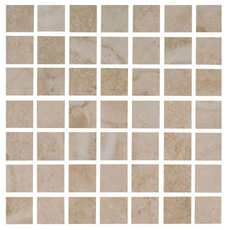 1 Inch Square Floor Tile Ivory by Interceramic Travertino Royal Ivory 12 Quot X 12 Quot Mosaic
