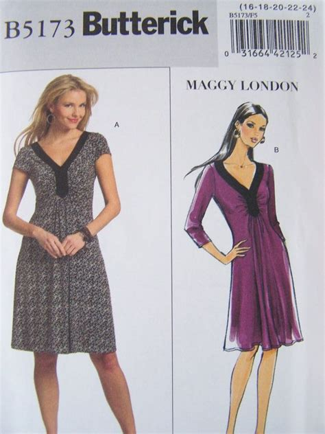 dress pattern ruching butterick b5173 sewing pattern misses flared dress with
