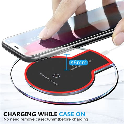 iphone 8 plus xs max xr qi wireless charger charging pad mat receiver for apple ebay