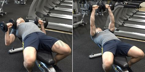 how to flat bench press how to dumbbell bench press ignore limits