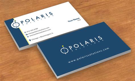 business card design for polaris solutions by smart