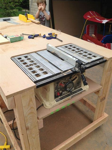 how to make a bench saw searching diy workbench and built ins on pinterest