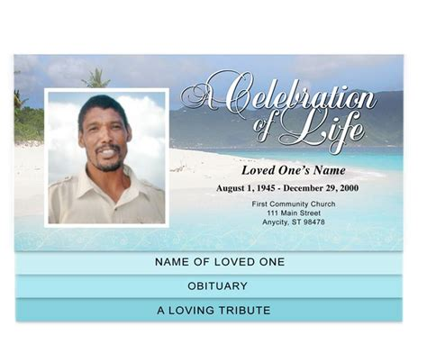 30 Best Images About Creative Memorials Graduated Style Funeral Programs On Pinterest Funeral Program Template For Mac