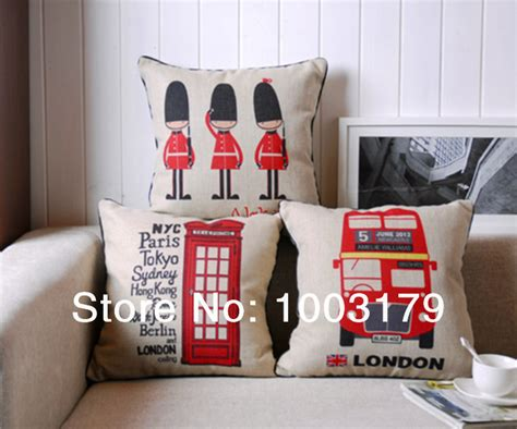 wholesale 3pcs set vintage home decor soldier tel pillow cover cotton and linen