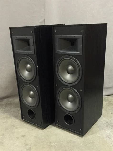 klipsch boat speakers pair of klipsch tower speakers each with duel 8 inch subwoo