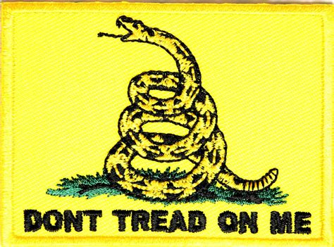 on me gadsden flag don t tread on me patch don t tread on me