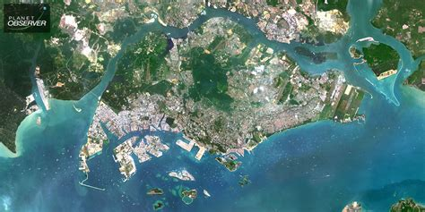 satellite map of singapore planetsat satellite image of singapore