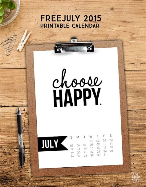 happiness is july 2015 free printable calendar and planner july 2015 calendar free printable live laugh rowe