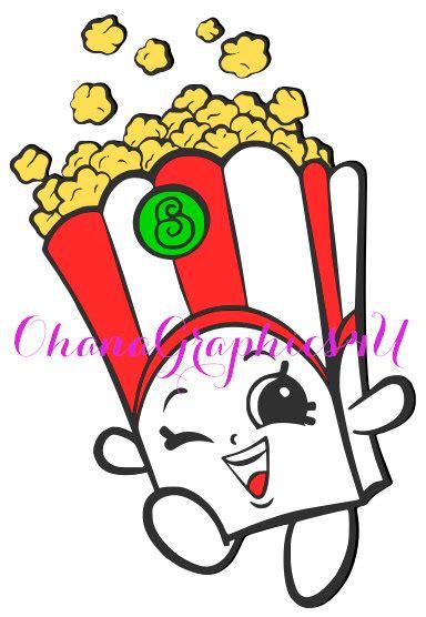 shopkins inspired poppy corn svg