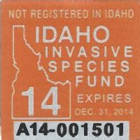 Idaho Invasive Species Sticker