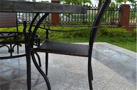 round slate dining 63 round slate outdoor patio dining stone oceane