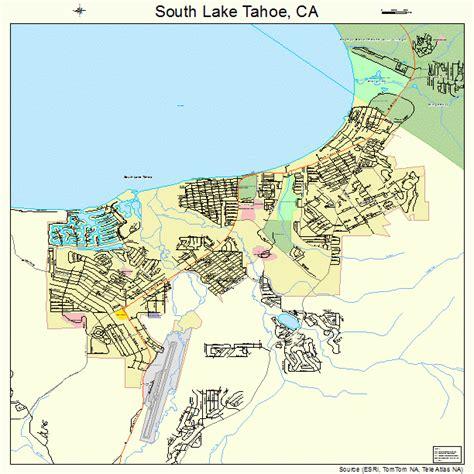 california map lake tahoe south lake tahoe california road map ca atlas