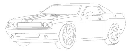 how to draw a dodge challenger drawingforall net being lazy how i draw exle dodge challenger srt8