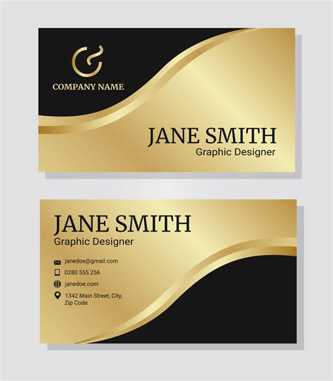 Gold Corporate Business Card Template Download Free Vector Art Stock Graphics Images Gold Business Card Template Free