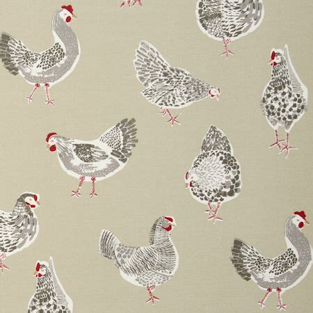 chicken pattern roller blind rooster sage sketchbook prints fabric collection