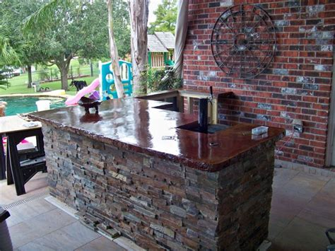 outdoor kitchen countertops outdoor kitchens by crane concrete counters