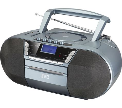 cassette player boombox buy jvc rc d327b dab fm bluetooth boombox grey free