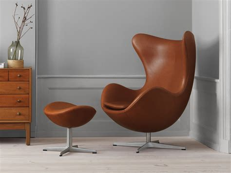 Fritz Hansen Egg Chair by Buy The Fritz Hansen Egg Lounge Chair Leather At Nest Co Uk