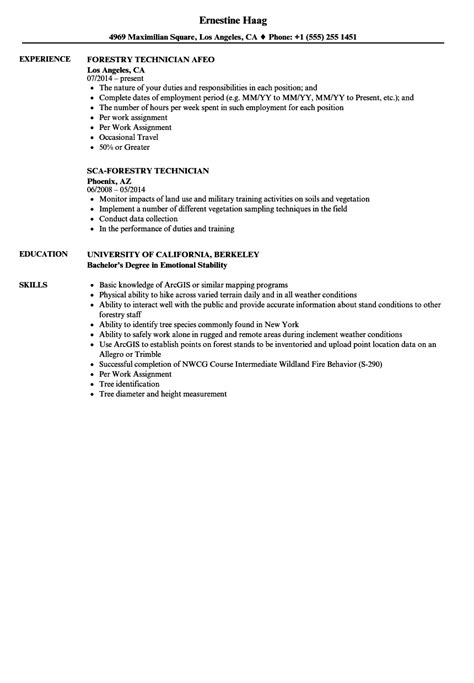 Forestry Worker Cover Letter by Forestry Worker Sle Resume Elevator Mechanic Sle Resume
