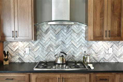 brushed stainless steel backsplash tiles condo ideas
