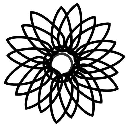 Sunflower Clip Outline by Sunflower Outline Clipart Best