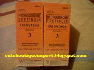 cute boutique import rdl hydroquinone tretinoin babyface
