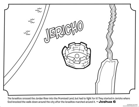 jericho bible coloring pages what s in the bible