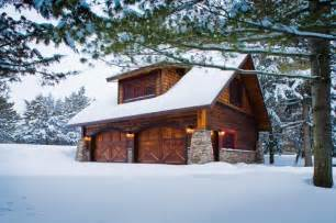 Cabin Plans With Garage Carriage House Lower Whitefish Lake Winter