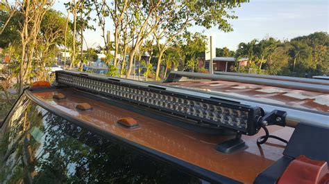 roof top led light bar led roof bar installed hummer forums enthusiast forum