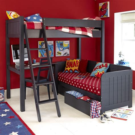 bedrooms with bunk beds lively colorful boys room space saving bunk bed designs