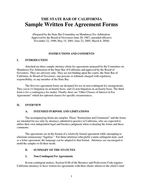 written agreement template 11 best images of written agreement contract sle