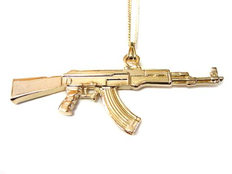 ak 47 assault rifle pendant necklace necklaces pendants
