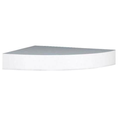 White Corner Floating Shelf by Home Decorators Collection 11 8 In X 11 8 X 2 In H White